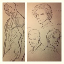 Marcus To Scarlet Spider & Character Designs