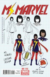 Ms. Marvel #1 Design Variant by Jamie McKelvie