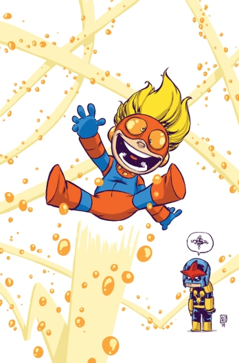 New Warriors #1 Variant Cover by Skottie Young