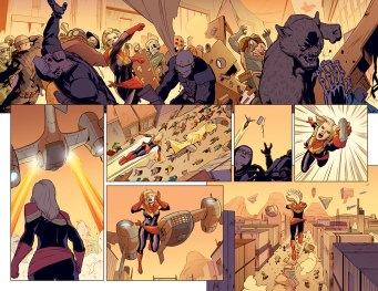 Captain Marvel #1 Preview 2 Art by David Lopez