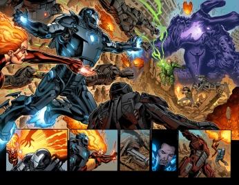 Iron Man #22 Preview 1 Art by Joe Bennett