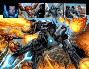 Iron Man #22 Preview 2 Art by Joe Bennett