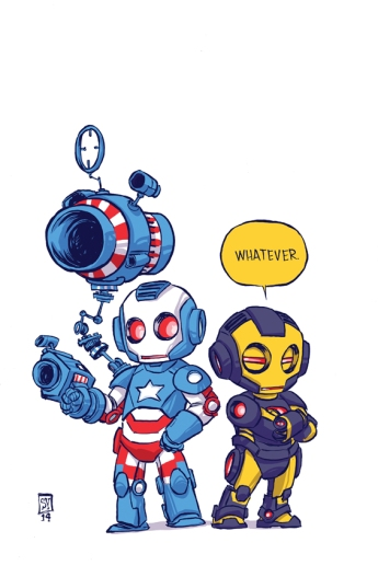 Iron Patriot #1 Variant Cover by Skottie Young