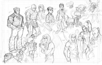 Wolverine, Angel, Deathlok, Students