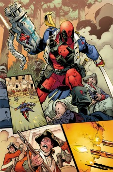 Deadpool vs X-Force #1 Preview 2 Art by Pepe Larraz