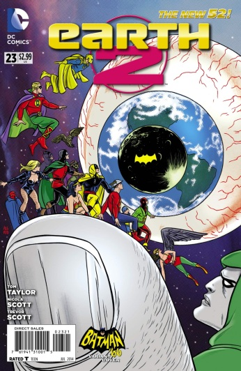 Earth 2 #23 Variant Cover by Mike Allred