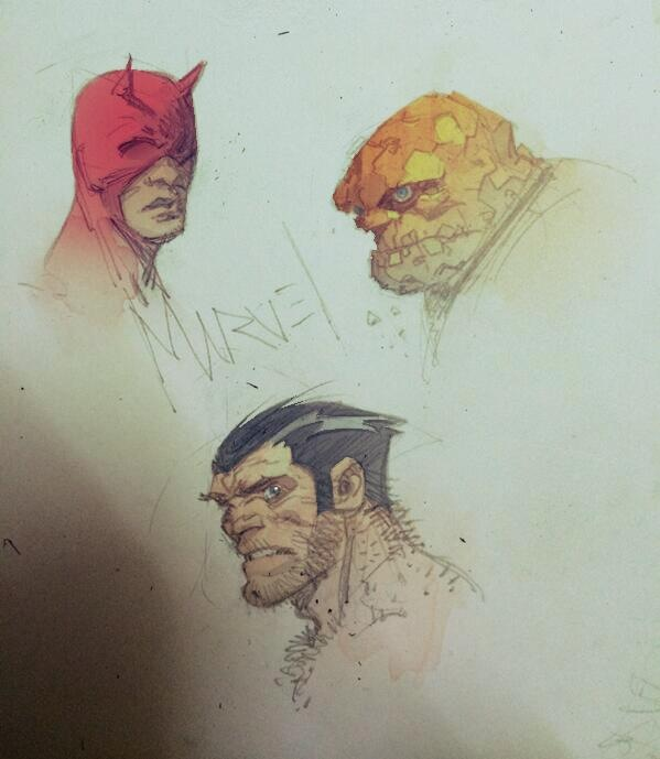 Daredevil, The Thing, Wolverine