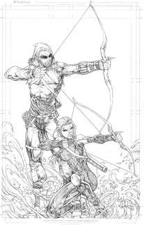 Green Arrow and Katniss Everdeen