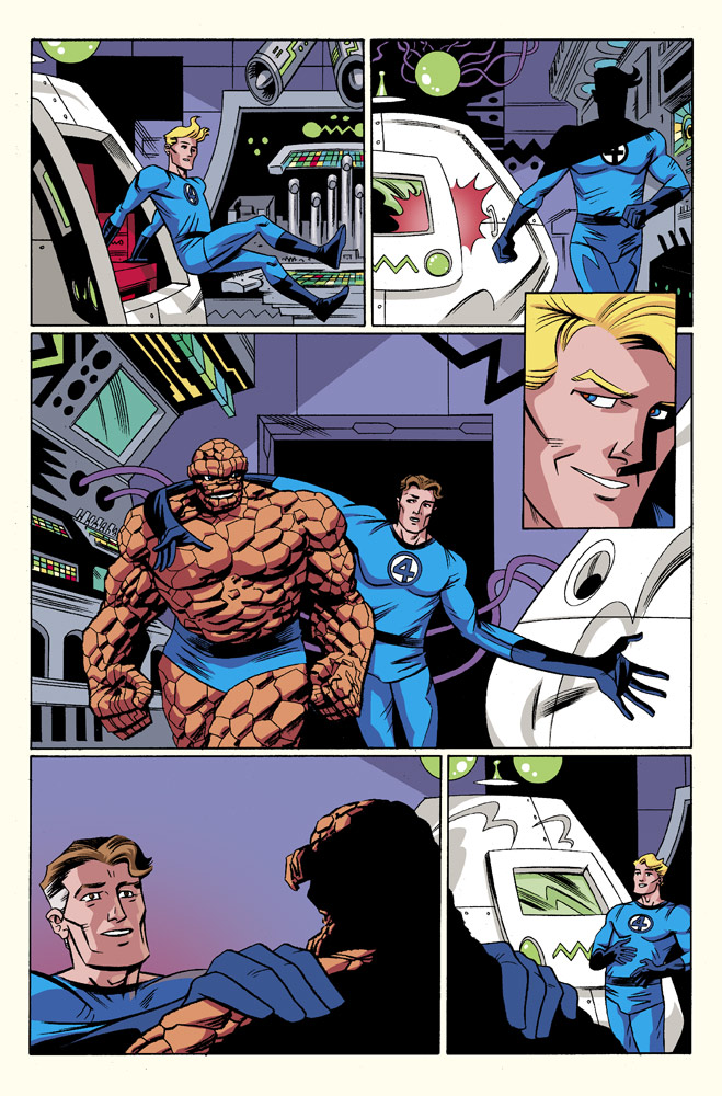 Fantastic Four #6 Original Sin Tie-In Preview 3 Art by Leonard Kirk/Dean Haspiel