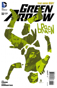 Green Arrow #32 Cover by Andrea Sorrentino