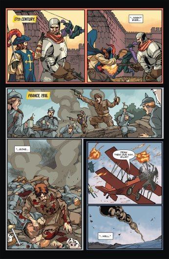 Unity #8 (Armor Hunters) Preview 5 Art by Stephen Segovia