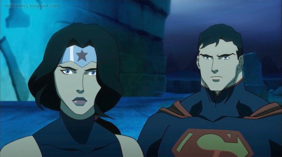 New justice league throne of atlantis images - Superman wonder woman cartoon ...